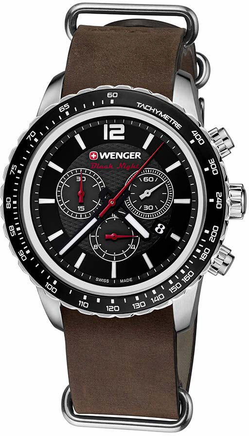 Wenger Watch Roadster Black Night Chrono D