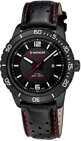 Wenger Watch Roadster Black Night Date PVD