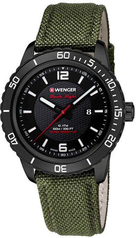 Wenger Watch Roadster Black Night Date PVD D
