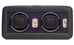 Wolf Watch Winder Windsor Double With Cover Black/Purple