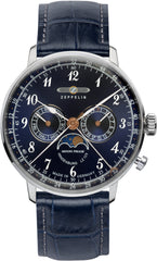 Zeppelin Watch LZ129 Hindenburg Moonphase Mens
