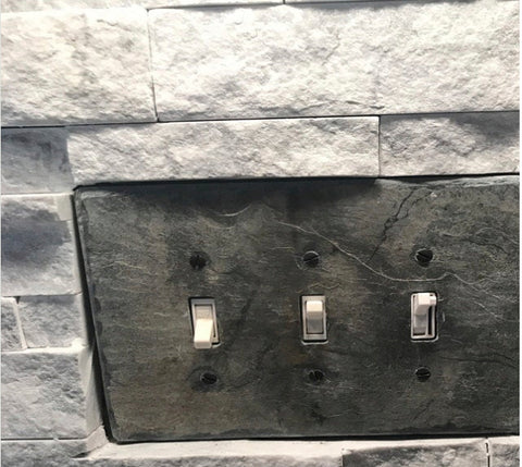 stone outlet covers switch plates - slate wall plates