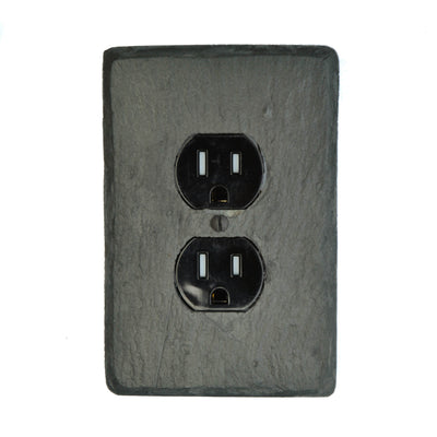 Black  Stone Light Switch Plates And Outlet Covers