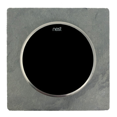 Nest Wall Plate 5 Inches Square Gray Slate Stone