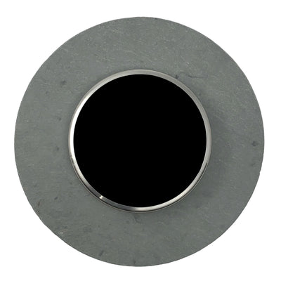 Nest Wall Plate 6 Inches Round Gray Slate Stone