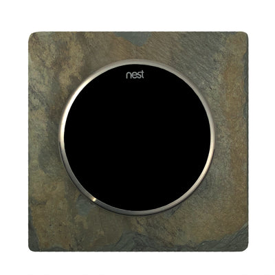 Nest Wall Plate 5 Inches Square Earth Tone Slate Stone