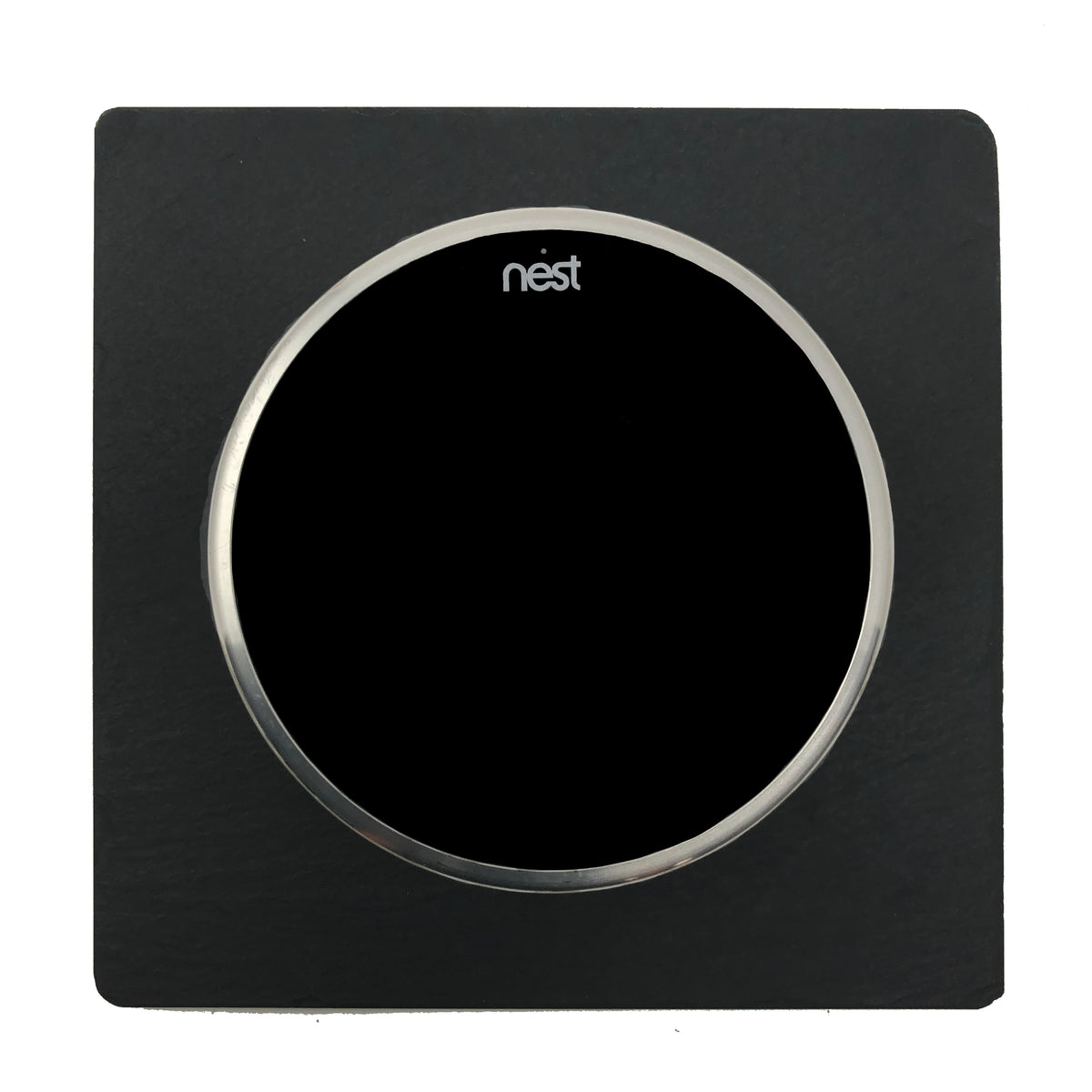 Nest Wall Plate 5 Inches Square Black Slate Stone