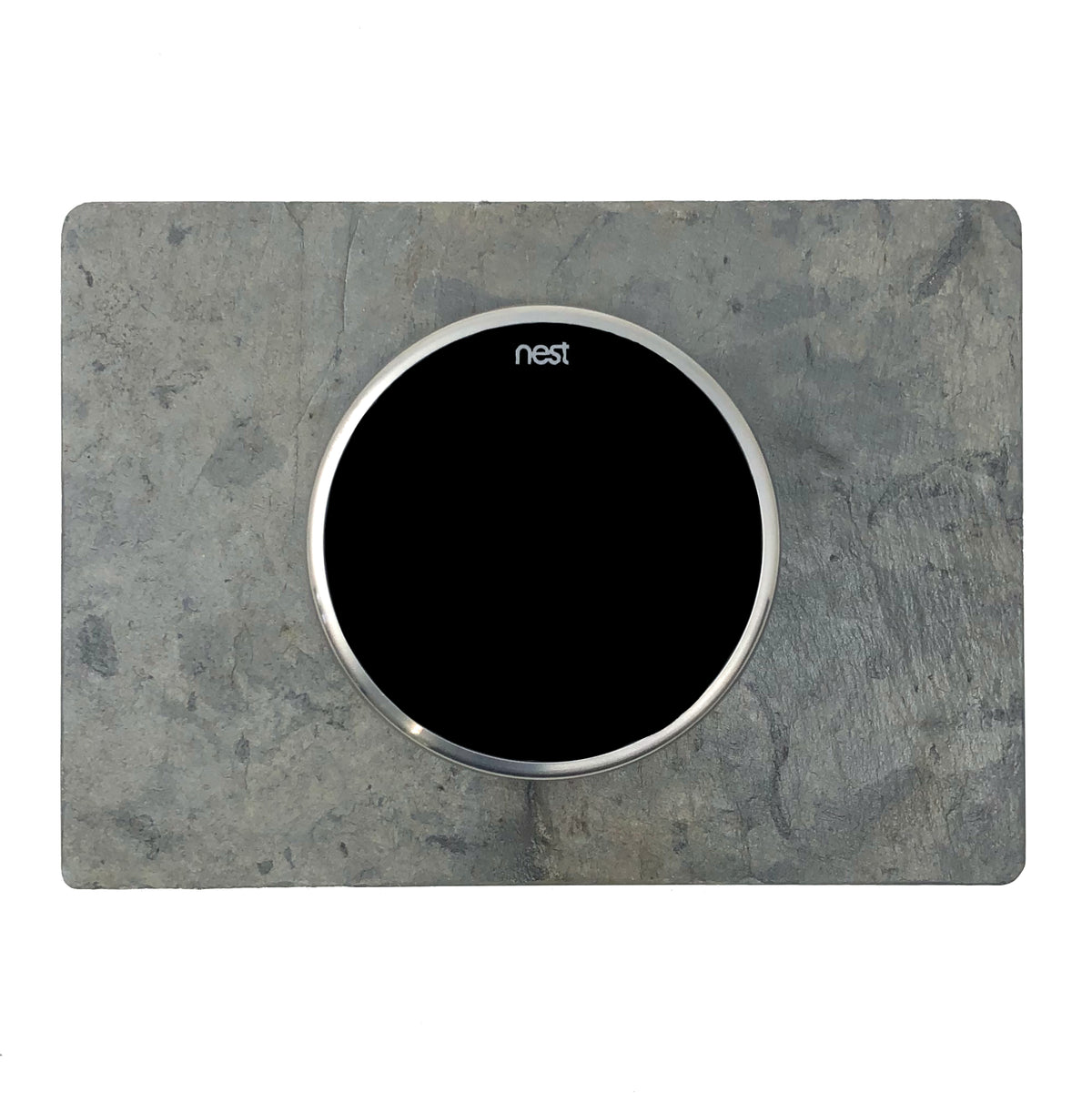 Nest Wall Plate 7 x 5 Inches Rectangle Gray Slate Stone