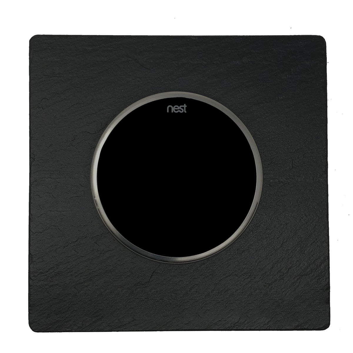Nest Wall Plate 6 Inches Square Black Slate Stone