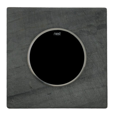 Nest Wall Plate 6 Inches Square Charcoal Gray Slate Stone