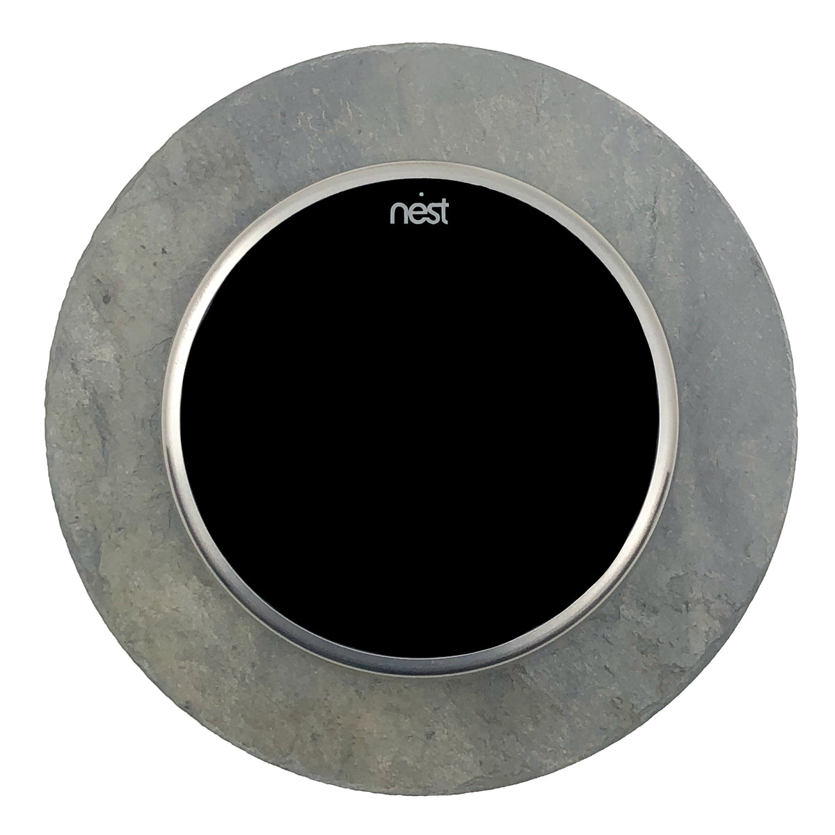 Nest Wall Plate 5 Inches Round Gray Slate Stone