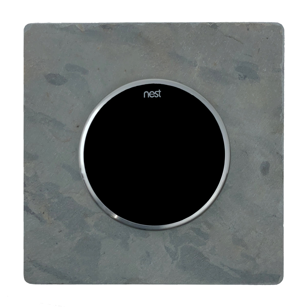 Nest Wall Plate 6 Inches Square Gray Slate Stone