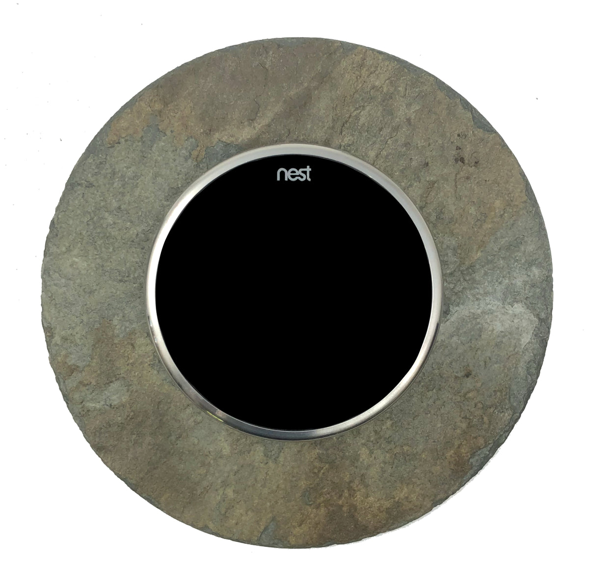 Nest Wall Plate 6 inches Round Earth Tone Slate Stone
