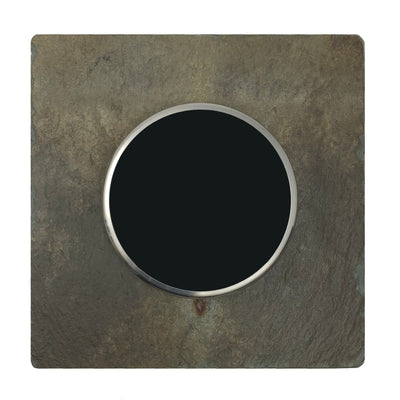 Nest Wall Plate 6 Inches Square Earth Tone Slate Stone