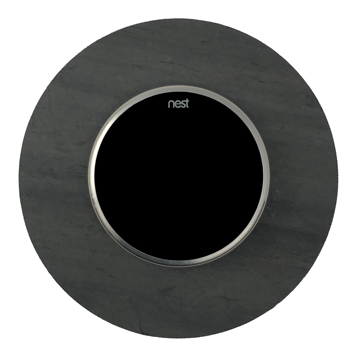Nest Wall Plate 6 Inches Round Black Slate Stone