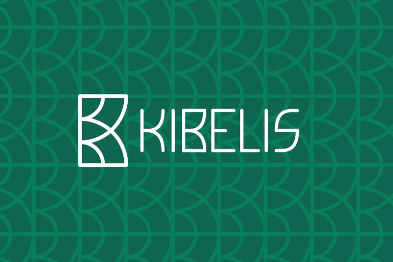 Kibelis design logo: green connection with nature