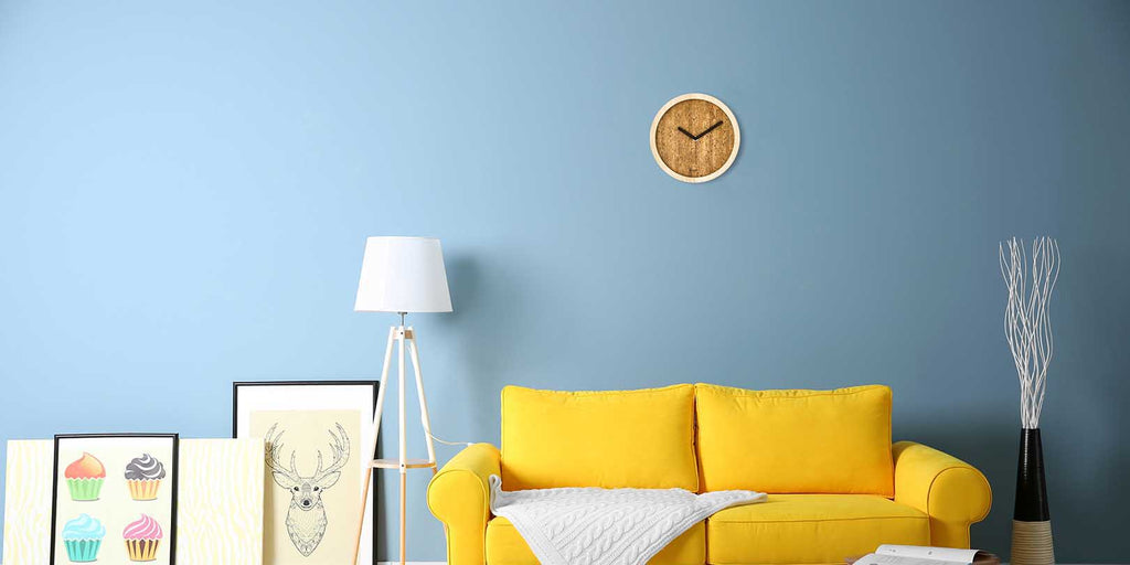 Sustainable Made in Italy Design - Wooden Wall Clock on a modern living home
