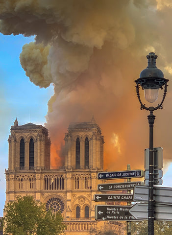 Notre Dame de Paris on fire