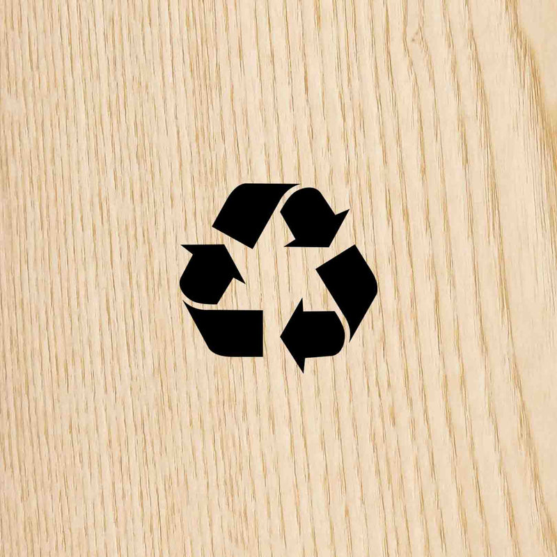 Ash wood is a sustainable wood we recycle in order to create ecofriendly design