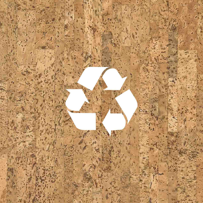 Cork as a sustainable material we recycle in order to create ecofriendly design