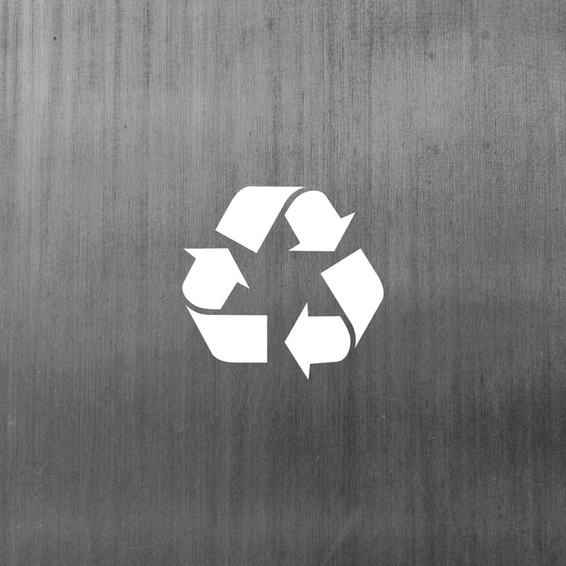 Steel is a sustainable material because it can be recycled multiple times - texture