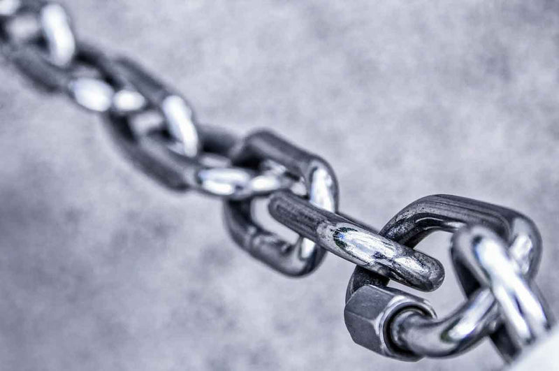 Steel is a sustainable material because it can be recycled multiple times - steel chain