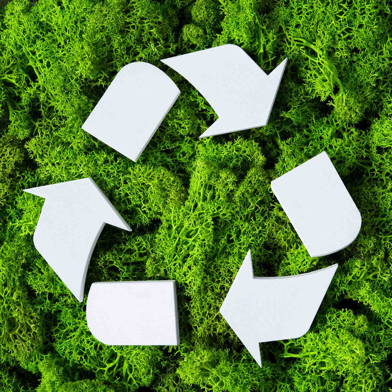 Sustainability is our first value. Recycling, green, ecofriendly
