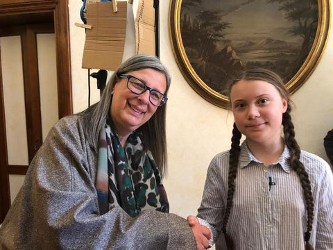 Greta Thunberg and Daniela Ducato, together to fight against climate change for the planet