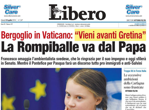Greta Thunberg offended by far right newspaper Libero