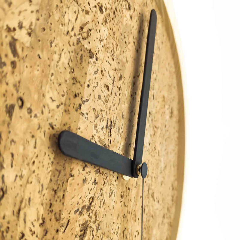 Kibelis EORA | Sustainable Design Wall Clock | Made in Italy ecofriendly wood and cork - Clock Hands from recycled ice cream sticks