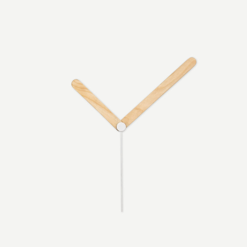 Kibelis EORA | Sustainable Design Wall Clock | Made in Italy ecofriendly Clock Hands made from recycled ice cream sticks - Light Colour White