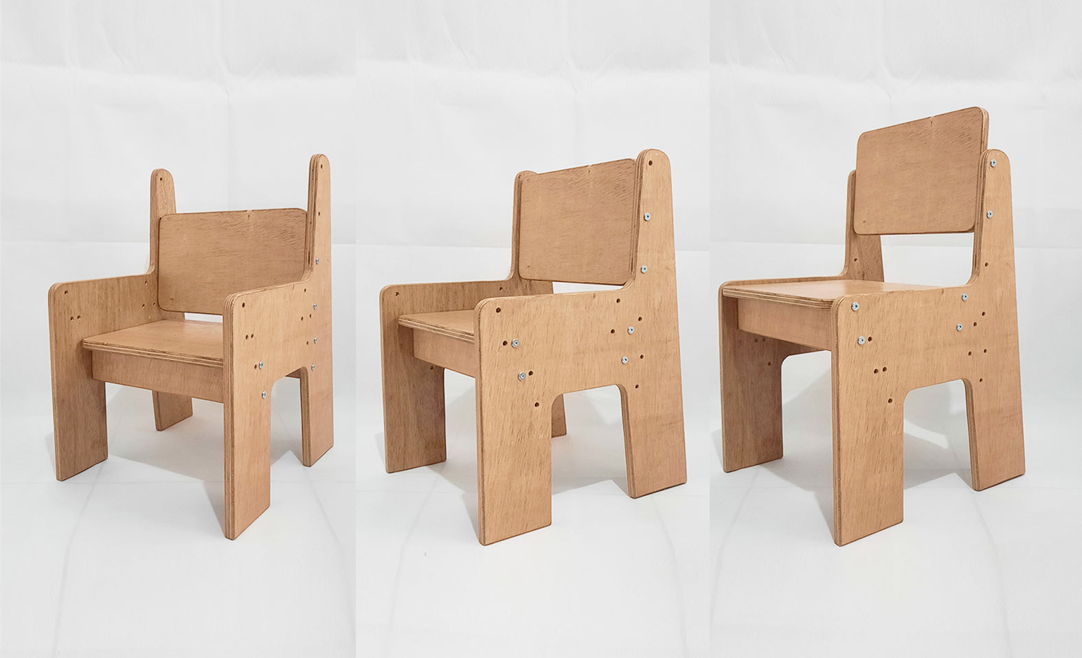 The Five & Up Chair is shown in all its Forms.