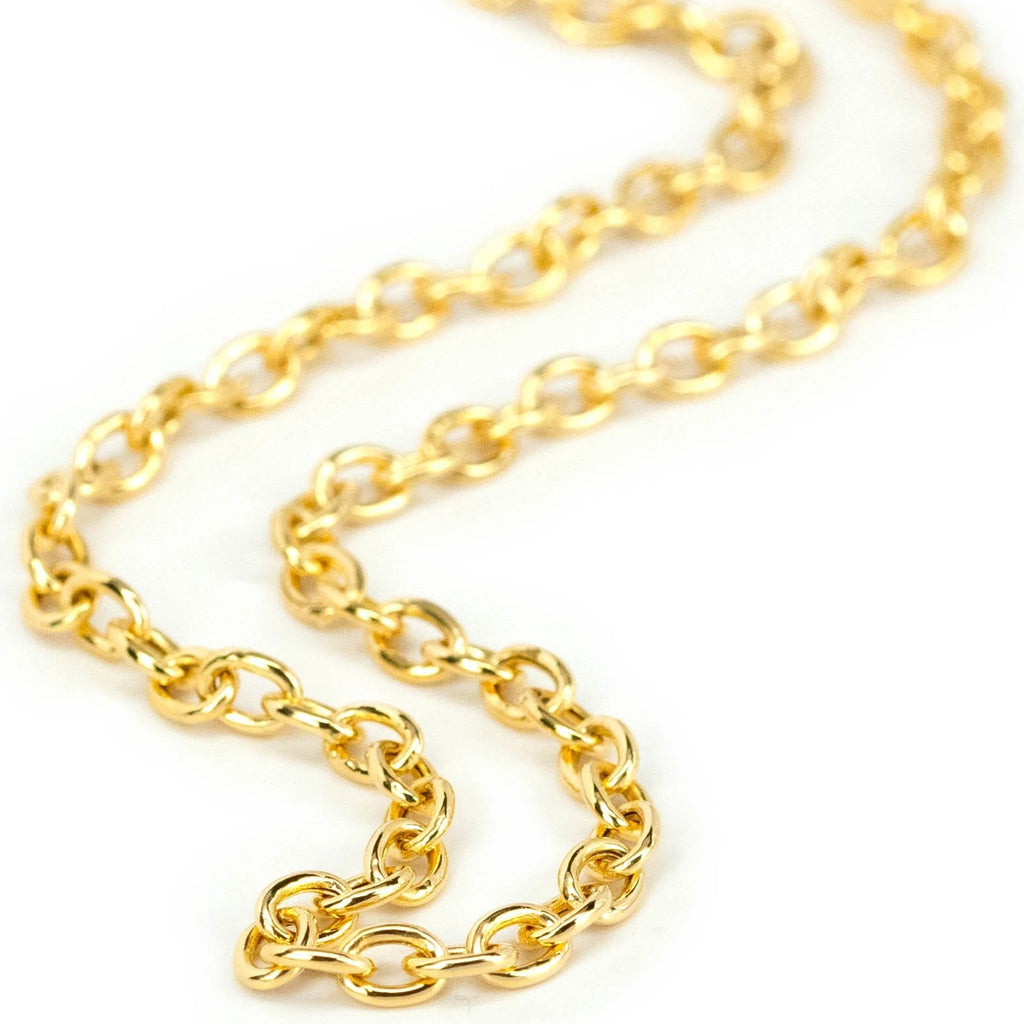 Hollow Oval Link Chain 18""