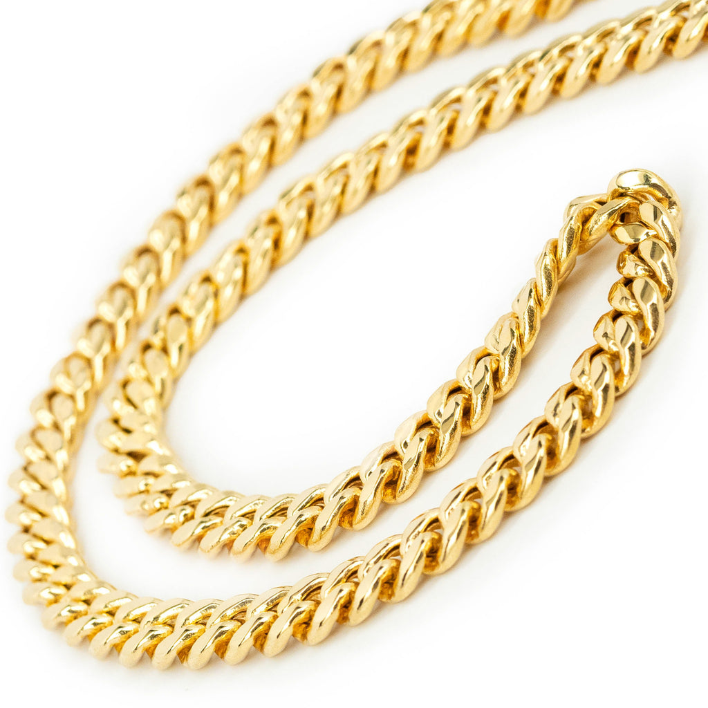 Cuban Hollow Link Chain 17.5""