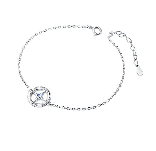 Compass No Matter Where Bracelet: Jewelry S925 Sterling Silver North Star