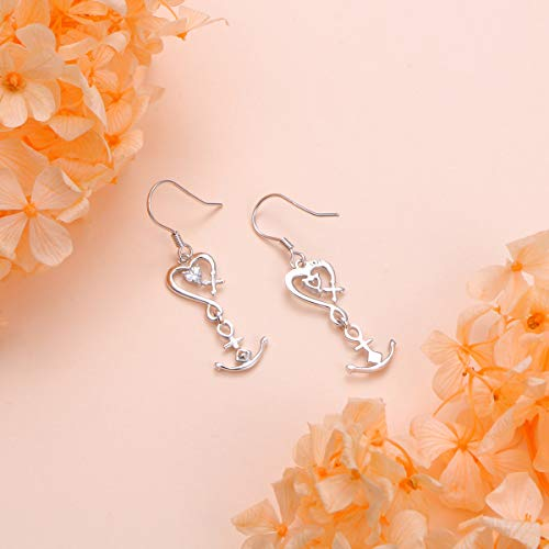 Faith Hope Love Heart Cross Anchor Vintage Jewelry Earrings Jewelry S925 Sterling Silver