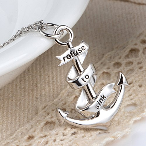 Anchor Necklace Pendant Gifts for Women Adventure Lovers 925 Sterling Silver Charm