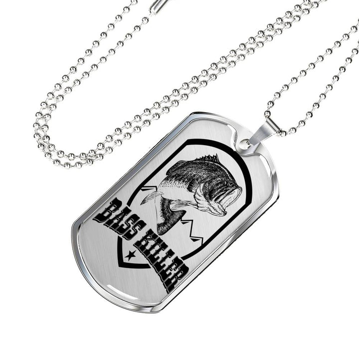 Bass Killer Dog Tag Great For The Bass Fisher
