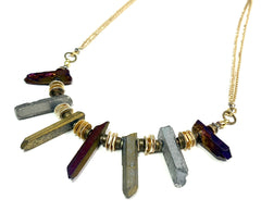 Crystal Point Statement Necklace