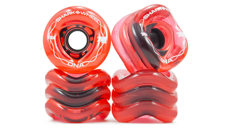 Shark Wheel DNA Formula 72 MM, 78A Wheels - Transparent Red (set of 4) - LocoSonix