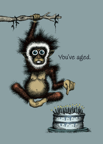 Bald Guy Birthday - You've Aged. - But haven't we all? Greeting Card - LocoSonix