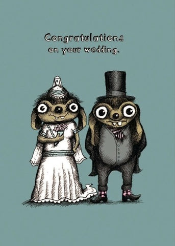 Bald Guy Congratulations on your wedding - married up Greeting Card - LocoSonix
