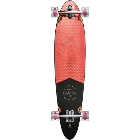 "Globe 40"" Pinner Classic Longboard Complete Red Foil"