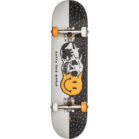 "Globe 7.625"" Outta This World Mid Skateboard Complete - White Black"