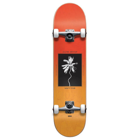 "Globe 7"" Palm Off Mini Skateboard Complete Red Fade Dye"