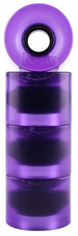 Penny TRANSPARENT Longboard Wheels - Purple 59mm 83A