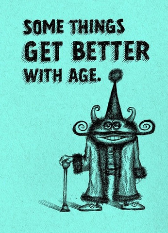 Bald Guy Birthday - Some things get better with age Greeting Card - LocoSonix