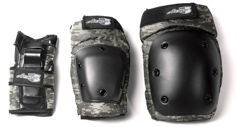 Armor 3600 Combo Pack (Knee, Elbow, Wrist) w/ Net Bag - LocoSonix