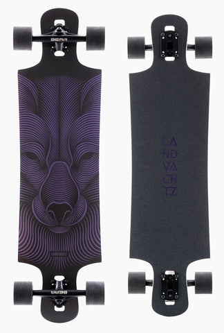 Landyachtz DROP HAMMER NIGHT FOX Longboard Complete 36.5""