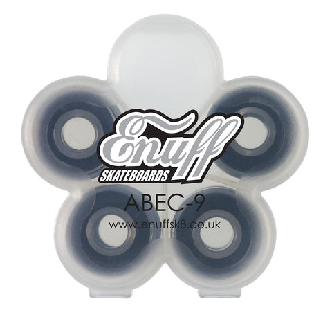 Enuff ABEC-9 Bearings - Black [pack of 8] - LocoSonix